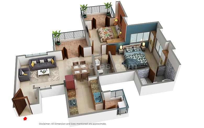 Arv Group Arv Royale Floor Plan Handewadi Pune