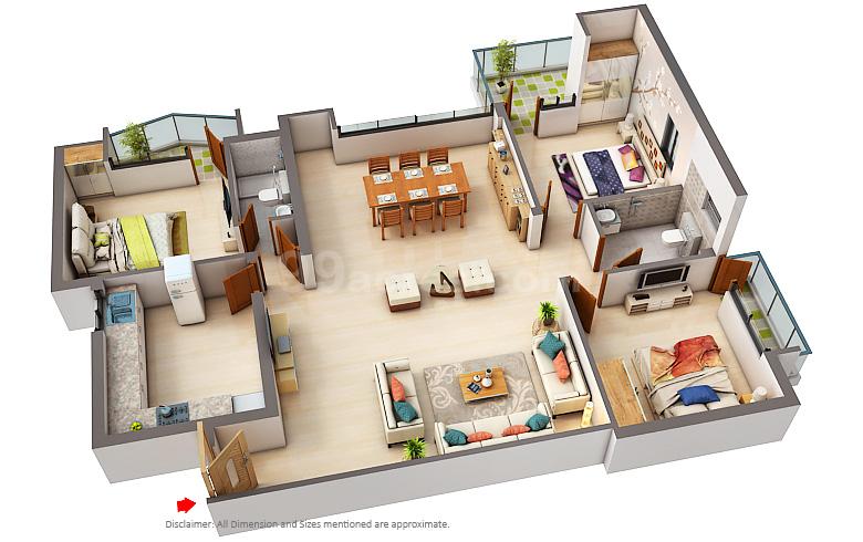 Aarti Chgs Celestial Heights Floor Plan Sector 2 Dwarka Delhi Dwarka