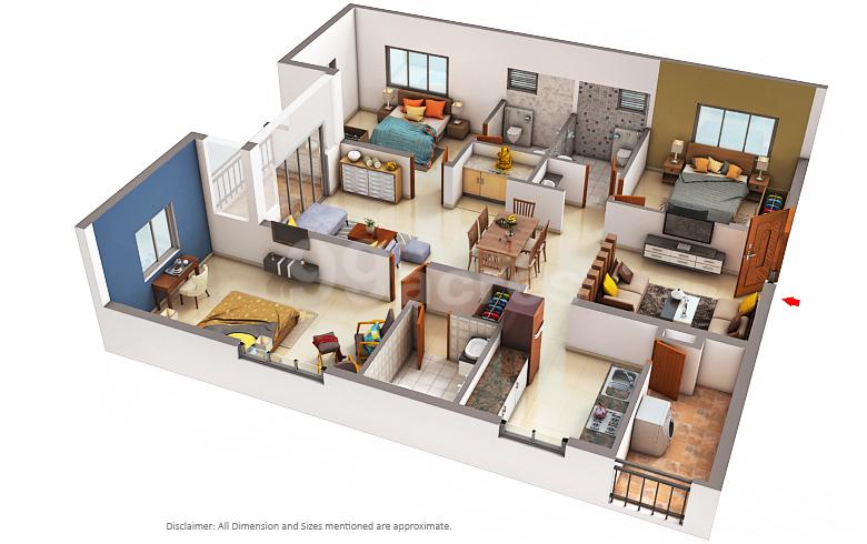 My Home Constructions My Home Avatar Floor Plan Puppalaguda Hyderabad