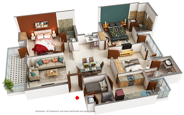 Emaar India Emaar Mgf Palm Hills Floor Plan Sector 77 Gurgaon