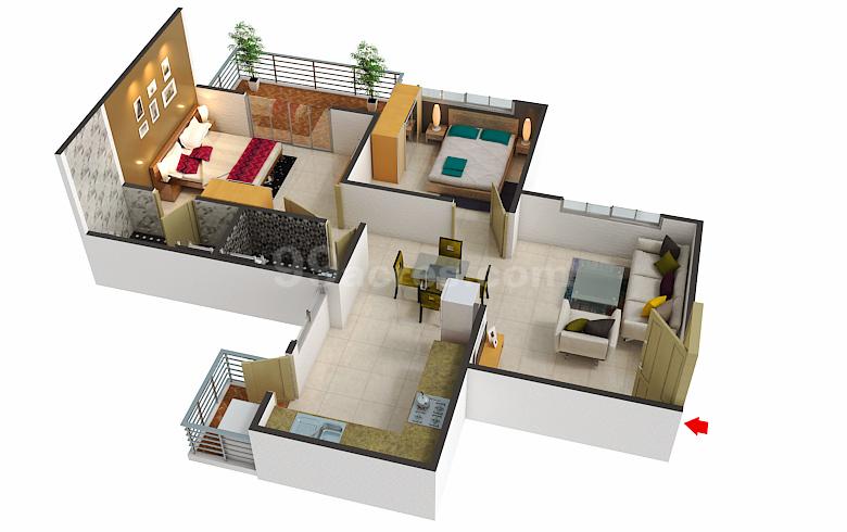 Alpine Homes Alpine Aura Floor Plan Bankar Vasti Pune
