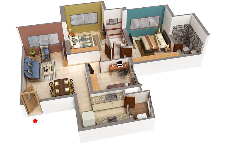 Evershine Builders And Bredco Evershine Crown Floor Plan Thakur Village Mumbai Andheri Dahisar