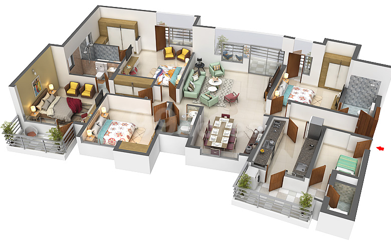 Experion Developers Experion The Heartsong Floor Plan Sector 108 Gurgaon